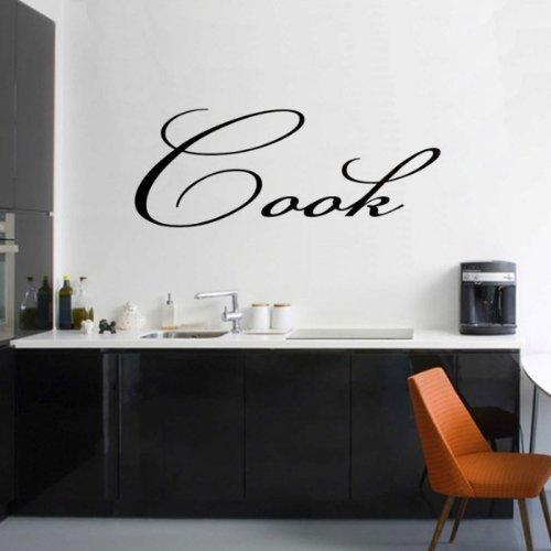 Windsor Designers Sticker Mural – Cook, décoration Murale, Citation, transférer, Chambre à Coucher, Jaune, S - 60 x 30 cm