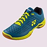 YONEX Power Cushion Eclipsion X Mens Indoor Court Shoe (Turquoise/Yellow) (8.5)
