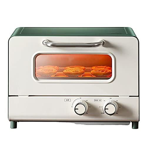 Mini Horno de tostadora Verde Retro con Totalfry 360 (tecnología Air Fry Air Fry) 800W / 110V, 8 Funciones de cocción predefinidas, 12L