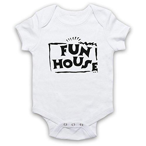 My Icon Art & Clothing Fun Contestant Kids House TV Show Bébé Barboteuse Bodys, Blanc, 6-12 Mois
