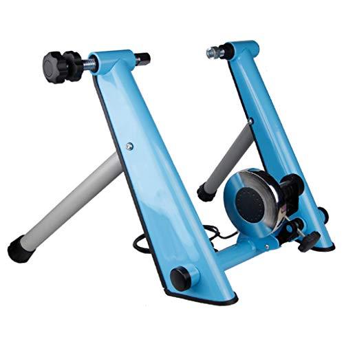 LCAIY Indoor Magnetic Bike Trainer Stand – Bicicleta Turbo Trainer, bicicleta de ejercicio, marco estacionario, para bicicletas de montaña y bicicletas de carreras de 26 – 28 pulgadas