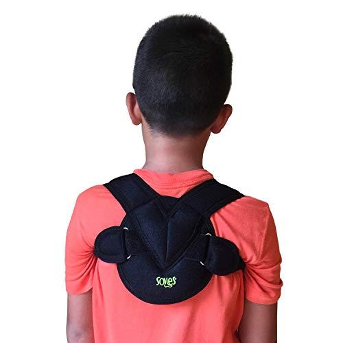 Vendaje de clavícula Soles - Tela ajustable, flexible y transpirable - Unisex - Mejora la mala postura y la osteoporosis - Órtesis de clavícula para lesiones de clavícula (Pediátrico)