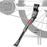Béquille de vélo, Bike Béquille Alliage d 'aluminium réglable MTB pour VTT, VTT et Vélo Pliant 24 Pouce- 28 Pouce