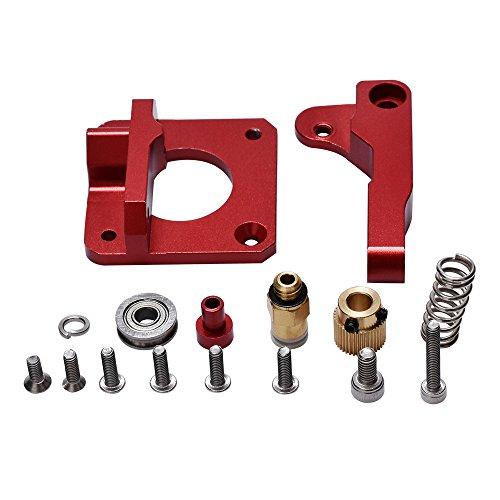 kingprint Upgraded Ersatz 3D Drucker Teil MK8Extruder Aluminium-Block Bowdenzug Extruder 1,75mm Filament RepRap Extrusion für CR10/cr-10/cr-10s DIY (rot)