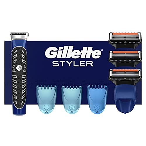 Gillette 4in1 Präzisions-Styler mit Barttrimmer + Rasierer + Rasierklinge + 3 Kammaufsätze