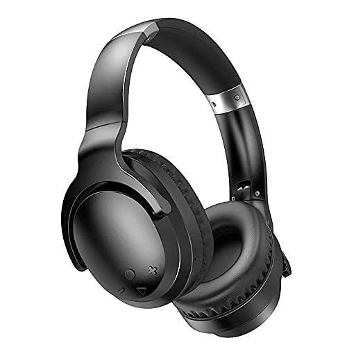Auriculares inalámbricos de Juego, cancelación de Ruido sobre Auriculares para Juegos de Oreja con Auriculares Plegables de micrófono Bluetooth para PC, PS4, Cambiar (Color :...