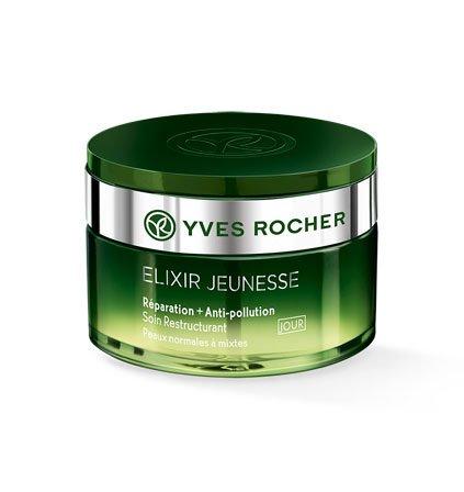 Yves Rocher - Crema da giorno Elixir Jenuesse, anti-inquinamento, 50 ml Libera la pelle dagli agenti ambientali.