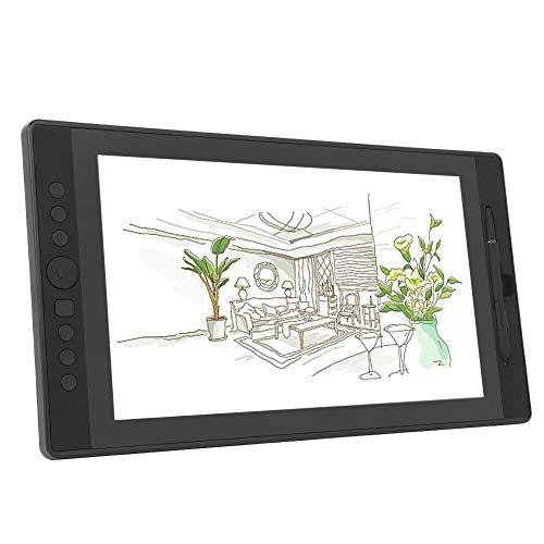 Pantalla Digital de 15.6 Pulgadas, Pantalla Digital de Tableta gráfica LCD inalámbrica, Amplia 1920 * 1080P, lápiz con Sensor de presión, ángulo libremente Ajustable(EU)