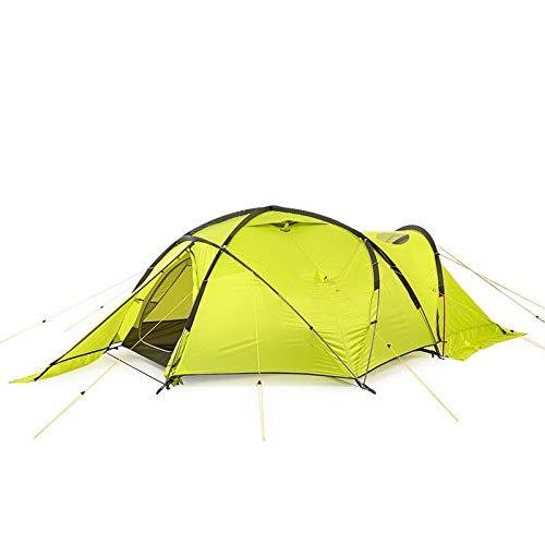 ZoSiP Acampada Tienda Senderismo Al Aire Libre Doble Alpine Snow Espesado Viento y el frío Carpa Lluvia Resistente (Color : Green, Size : 390X204X125cm)