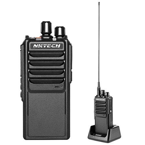 NKTECH U-25W UHF 400-480MHz Tri-Power 25W 10W 5W 10Km Range Handheld Mobile Transceptor de jamón Walkie Talkie con 37CM High Gain Antena Accesorios (Negro Estándar)