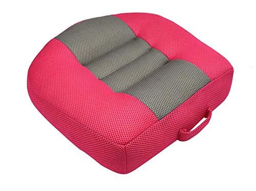 SXHYL Auto-Sitzkissen Sitzerhöhung Erwachsener Sitzerhöhung Für Auto, Tragbarer Kindersitz Für Fahrer, Beifahrer, Atmungsaktive rutschfeste 3D-Netzkissen Mit Praktischem Griff,3