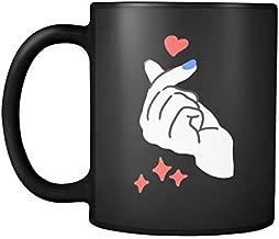 Korean Finger Heart 11oz Coffee Mug – I Love You Saranghae South Korean Kpop Gift Cup