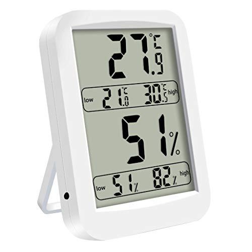 FXCO Digitales Thermo-Hygrometer, Innenthermometer und Feuchtigkeitssensor, ACL, großes Display mit 4,5 Zoll