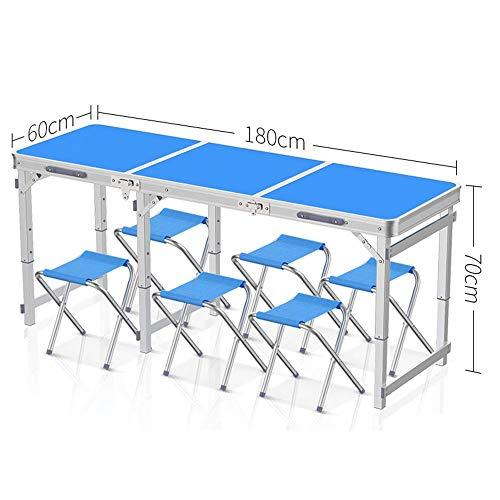 WNN-T Table pliante 1.8m en alliage d'aluminium Stall extérieur pliant guéridon Accueil simple Chaise pliante Portable Heavy Duty Catering tréteau Garden Party Table WNN-T (Color : F)