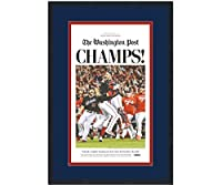 Framed Washington Post Champs Nationals 2019 World Series Champions 17x27 Baseball Newspaper Cover Photo Professionally Matted