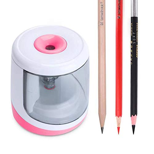 Electric Pencil Sharpener Battery Powered, Auto Sharpeners Fast Sharpen for NO.2 Colored Pencils (6-8mm),Compact Size for Pencil Case in Classroom/Office/Home,by Chasing Y