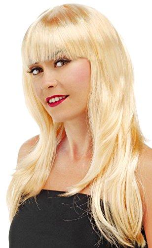 Folat 26706 – Taille Unique, Longue Perruque de Cheveux avec Queue de Cheval Blond