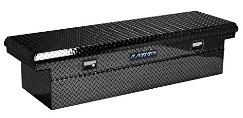 Lund 7111002LP 60-Inch Economy Line Low Profile Aluminum Cross Bed Truck Tool Box, Diamond Plated, Black