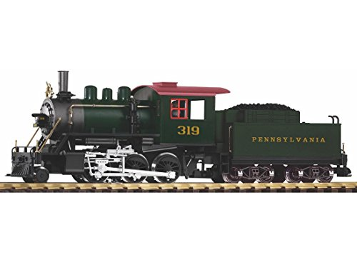 PIKO G SCALE MODEL TRAINS - PRR MOGUL LOCOMOTIVE 319 WITH TENDER & SOUND - 38213