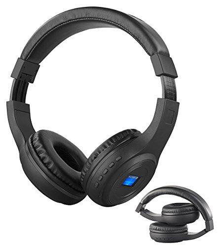 auvisio Kopfhörer mit Radio: Faltbares Over-Ear-Headset mit Bluetooth, MP3-Player, FM & LCD-Display (MP3 Kopfhörer)
