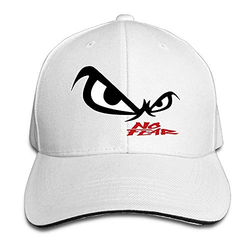 Youaini Unisex No Fear Owl's Eyes Sandwich Baseball Cap White