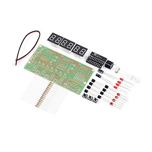Reloj Electrónico Digital C51 DIY Kit Suite DIY Kit Seix 6 bits Piezas Electrónicas Componentes Electrónicos Eletronicos Temporizador De Reloj Digital