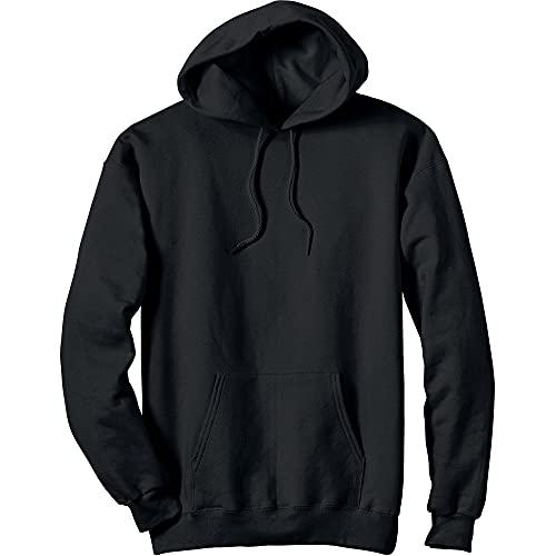 Hanes Men's Ultimate Cotton Heavyweight Pullover Hoodie Sweatshirt, Black, X-Large