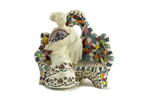 Nadal Figura Decorativa abanicarse con Arte Gaudi, Resina, Multicolor, 8.00x12.50x10.50 cm