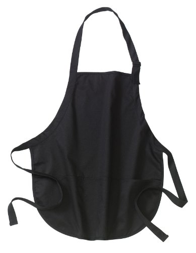 Port Authority Medium Length Apron with Pouch Pockets>One size Black A510′ /></a></td> <td class=