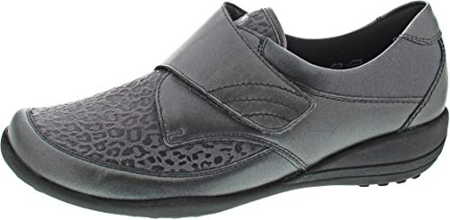Waldläufer Damen Slipper Katja Soft K01304-308-007 grau 494944