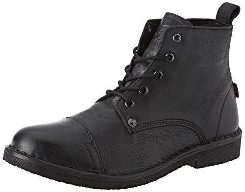 Levi\'s Track, Botas Biker Hombre, Negro (Boots 59), 45 EU