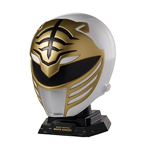 Power Rangers Legacy Mighty Morphin White Ranger – Juego de Casco, Ranger Blanco, 4.5 x 3.2 x 5 Inches