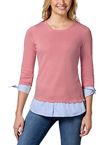 Walbusch Damen Blusenshirt 2 in 1 einfarbig Pfingstrose 44