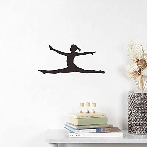 Etiqueta De La Pared De La Muchacha De La Danza Del Ballet Decoración Del Interruptor Del Fondo De La Sala De Estar Pegatinas Del Interruptor Del Pvc Papel Tapiz Mural Extraíble