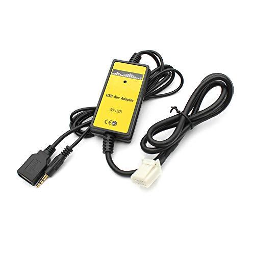 Majome Adaptador USB para Coche Interfaz de Audio MP3 Cable de ...