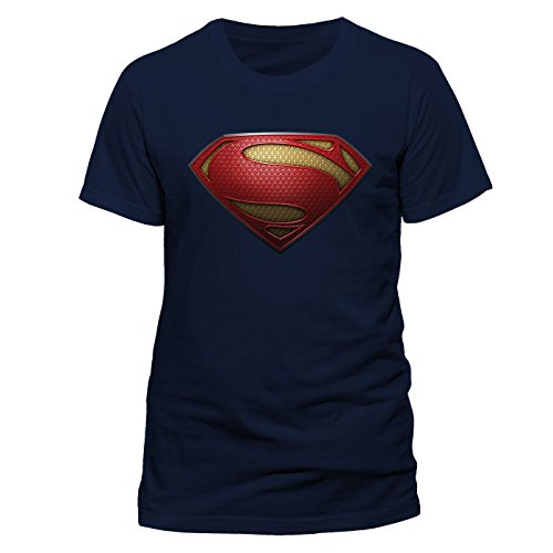 Man Of Steel Man Of Steel-Logo Blue - FR : S (Taille Fabricant : Small)
