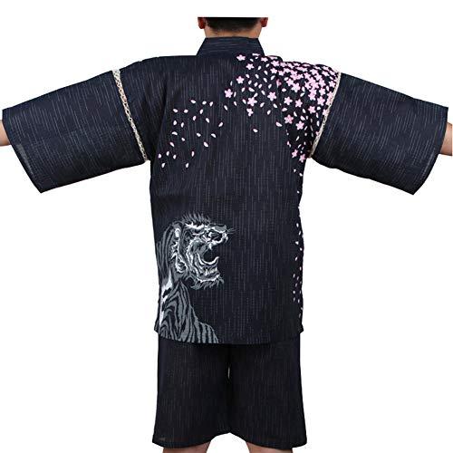 Fancy Pumpkin [Taglia XL A01] Abito da pigiama Kimono da uomo stile giapponese
