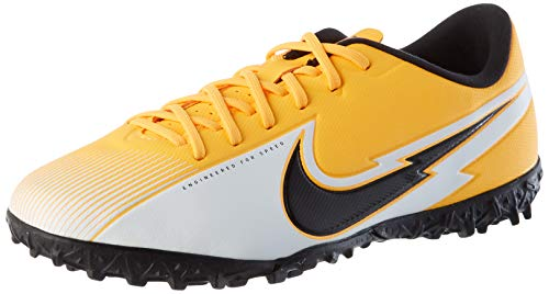 Nike JR Vapor 13 Academy TF, Scarpe da Calcio Bambino, Laser Orange/Black-White-Laser Orange, 38.5 EU