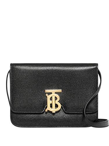 Luxury Fashion | Burberry Dames 8019338 Zwart Leer Schoudertassen | Lente-zomer 20