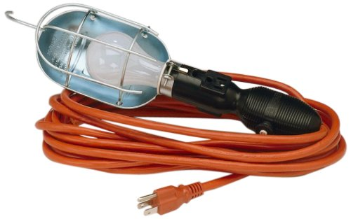 Lind Equipment LE104-25P Incandescent Work Light, All-Temperature, 13A Outlet, 25ft, 16/3 SJTOW Cord