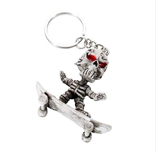 Familienkalender Cooles Skateboard Skelett Schlüsselanhänger | Geschenk für Kinder | Männer | Herren | Skull | Skaten | Skate | Boarden | Board