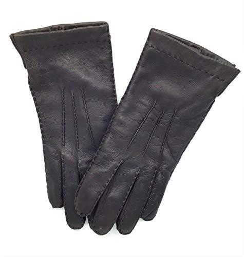 Handgenähte Handschuhe aus Lammleder, Lammlederhandschuhe, Herren, braun, Größe 8