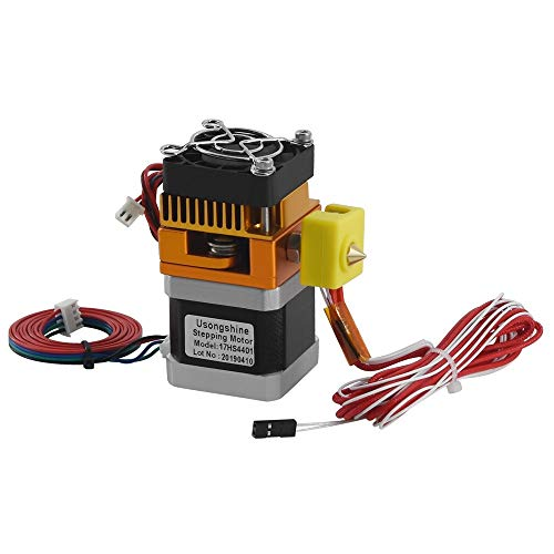 BGGPX 3D Printers MK8 Extruder 0.4mm Nozzle 1.75mm Filament Kit J-head Extrusion Hotend Head With Motor Throat Aluminum Part (Color : Short)