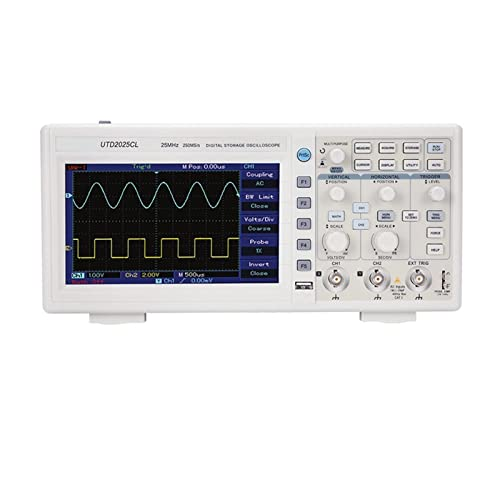 HEQIE-YONGP Osciloscopio Digital 202 5CL / 2102CEX Osciloscopio Digital de Mano 100M Dual Canal Upo2104cs/ cm (Size : UPO2104CS)