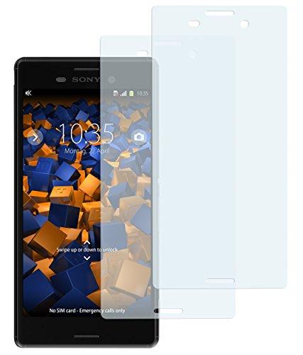 mumbi Schutzfolie kompatibel mit Sony Xperia M4 Aqua Folie klar, Displayschutzfolie (2x)