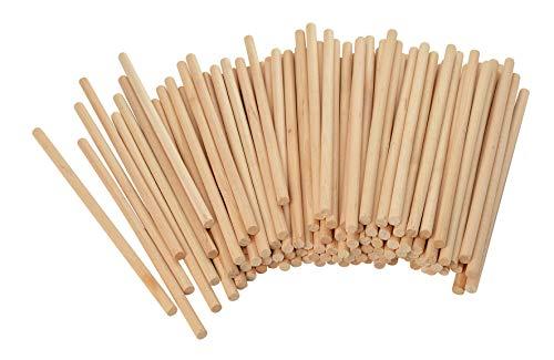 VBS Holz-Rundstäbe 100 Stück 15cm lang 6mm Durchmesser