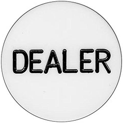 Engraved Casino Poker Dealer Button Gorgeous Inch Houston Mall Size - 2