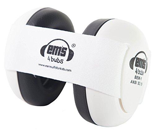 Em's 4 Bubs Baby Earmuffs - Weiße Ohrkapsel - weißes Stirnband (1 x 1 Stück)