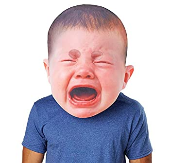 SEASONS LTD Oversized Crying Baby Mask for Adults One Size Measures 14 1/4 Inches Wide by 17 1/4 Inches Tall