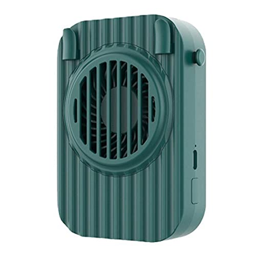 Augneveres Ventilador de cuello manos libres para colgar en el cuello, mini ventilador de mano con correa, portátil y recargable por USB, ventilador silencioso para casa, oficina, atractivo